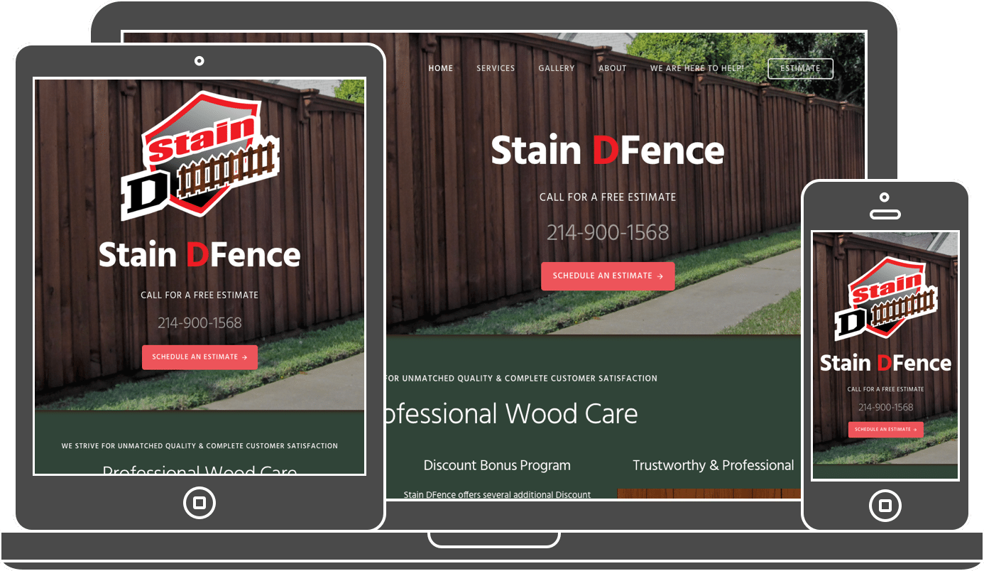 Stain DFence Website - Local Business